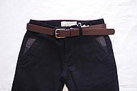 Стильные штаны для мальчиков, р-ры: 134-164, классического покроя, с высокой посадкой и утяжками-фиксаторами