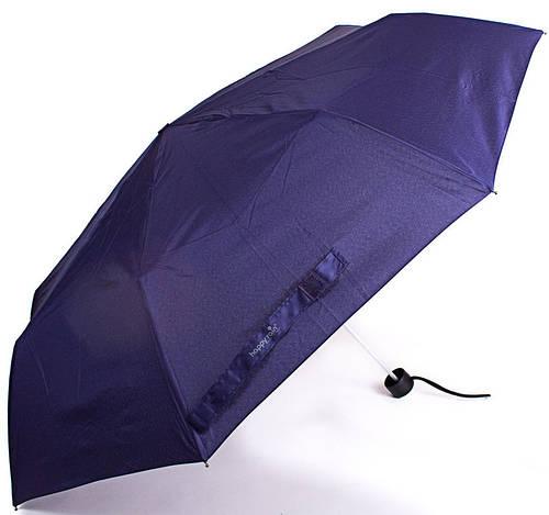 Синий женский компактный зонт, механический HAPPY RAIN (ХЕППИ РЭЙН) U42651-2