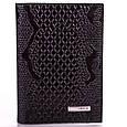 Женская строгая кожаная обложка для водительских прав KARYA (КАРИЯ) SHI0428-2ZM  Черная, фото 2