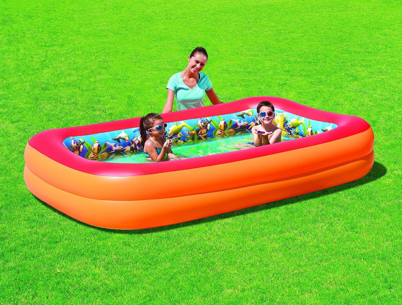 Детский надувной бассейн с 3D рисунком Bestway 54114