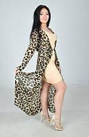 Леопардовое платье двойка от 46 по 52 р.