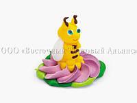 Фигурки из мастики  - Пчёлка в лиловом цветке - 30924, фото 1