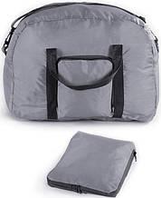 Дорожная вместительная складная сумка на 30 л. Traum 7072-21, серый