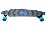 Электроскейтборд Backfire (синий Лонгборд) с пультом управления, фото 1