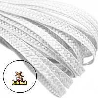 Тесьма плетеная соломка Белая 6 мм 1 м
