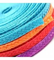 Тесьма плетеная соломка Аквамариновая 6 мм 1 м