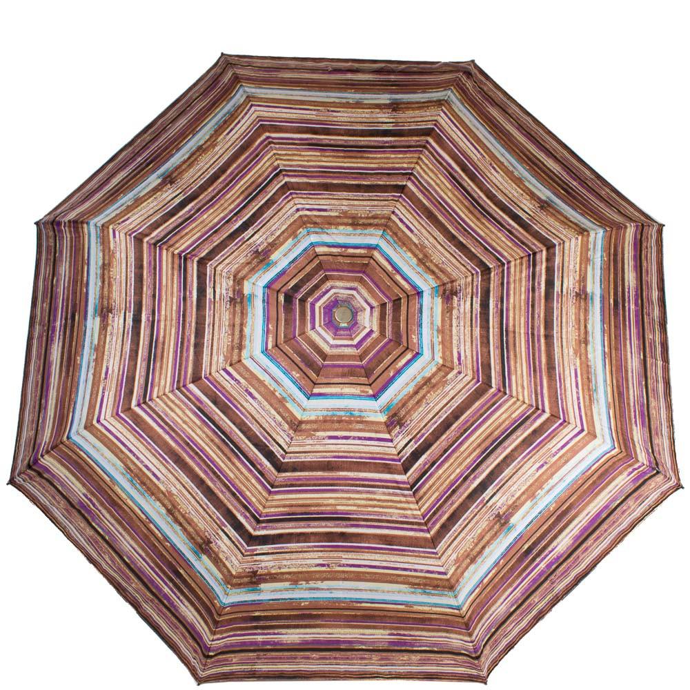 Полосатый женский зонт, полуавтомат AIRTON Z3615-5158 коричневый