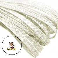 Тесьма плетеная соломка Молочная 6 мм 10 м/уп