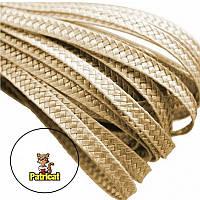 Тесьма плетеная соломка Песочная 6 мм 1 м