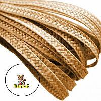 Тесьма плетеная соломка Латте 6 мм 1 м