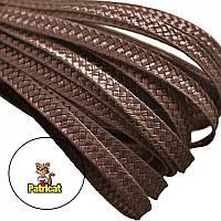 Тесьма плетеная соломка Шоколад 6 мм 1 м