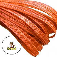 Тесьма плетеная соломка Оранжевая 6 мм 1 м