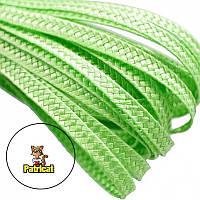 Тесьма плетеная соломка Зеленый лайм 6 мм 1 м