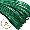 Тесьма плетеная соломка Зеленый изумрудный 6 мм 10 м/уп