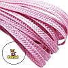Тесьма плетеная соломка Розовая 6 мм 10 м/уп