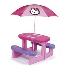 """Игровые площадки «Smoby» (310256) столик для пикника с зонтиком """"Неllo Kitty"""""""