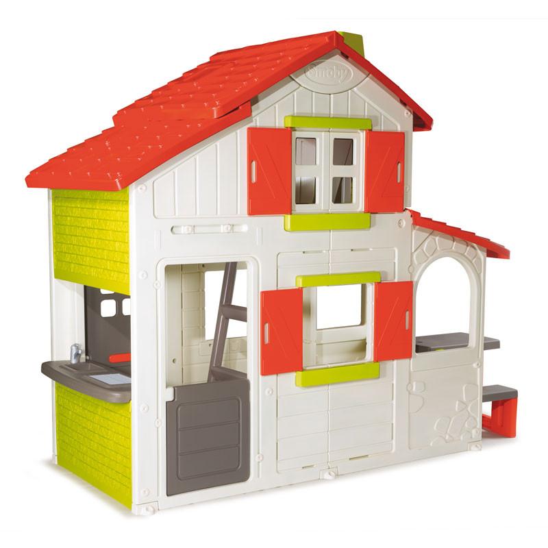 """Игровые площадки «Smoby» (320023) двухэтажный домик """"Duplex"""" для друзей с кухней-барбекю и дверным звонком"""