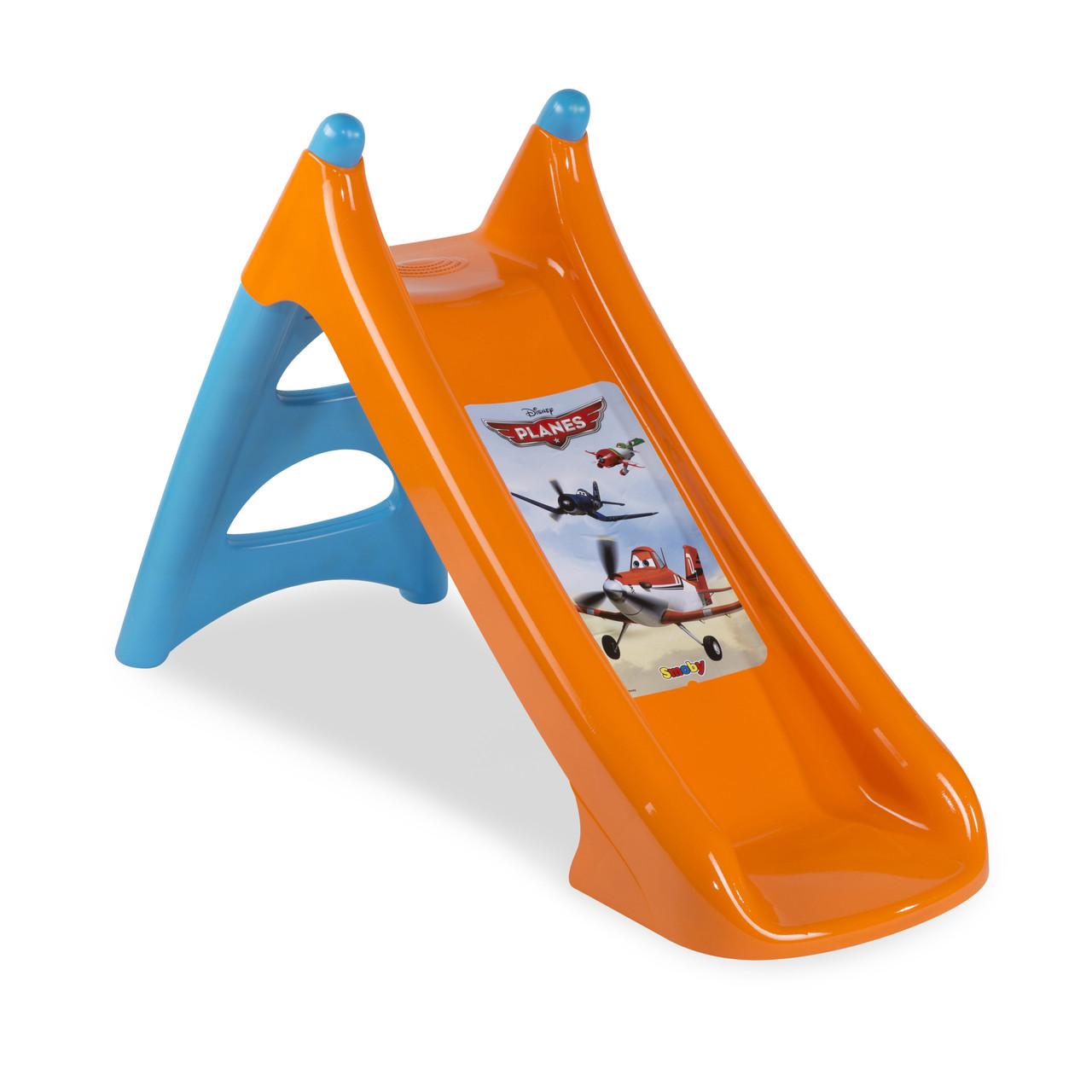 """Игровые площадки «Smoby» (310271) горка садовая """"XS"""" """"Самолёты (Planes)"""" с водным эффектом, длина спуска 90 см"""