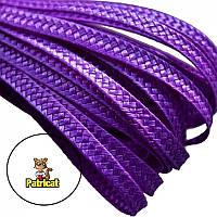 Тесьма плетеная соломка Фиолетовая 6 мм 10 м/уп, фото 1