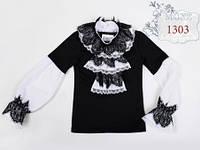 Школьная кофточка для девочки MONE 1303, цвет черный