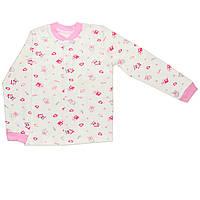 Детская кофта  (Молочный с розовым, домик)