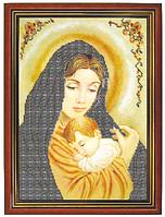 """Схема для частичной вышивки бисером на габардине - """"Мадонна с младенцем"""" (Код: Схема, А3, Габардин, Арт.ИЧ-2)"""
