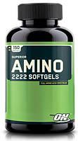 Аминокислотные комплексы Optimum Nutrition Superior amino 2222 softgels 150 капс