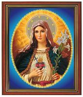"""Схема для частичной вышивки бисером на габардине - """"Дева Мария"""" (Код: Схема, А3, Габардин, Арт.ИЧ-5)"""