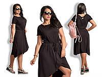 Платье Вискозное на запах БАТАЛ