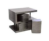 S-образный стол, 4 стула