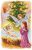 """Схема для частичной вышивки бисером на габардине - """"Рождество"""" (Код: Схема, А3, Габардин, Арт.ИЧ-13)"""