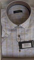 Мужская рубашка норма DERGI с коротким рукавом приталенная код 7091-4