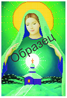 """Схема для частичной вышивки бисером на габардине - """"Мария Мать Земли"""" (Код: Схема, А3, Габардин, Арт.ИЧ-14)"""
