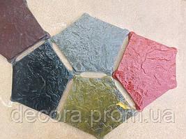 Формы для тротуарной плитки «Экомощение-Пентагон» глянцевые пластиковые АБС ABS