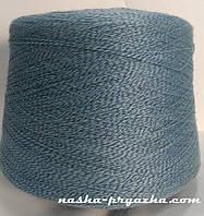 Пряжа полукамвольная 142/1 МУЛИНЕ (855 джинс + 057 серо-голубой)