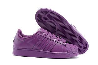 Кроссовки женские Adidas Superstar Supercolor / ADW-758 (Реплика)