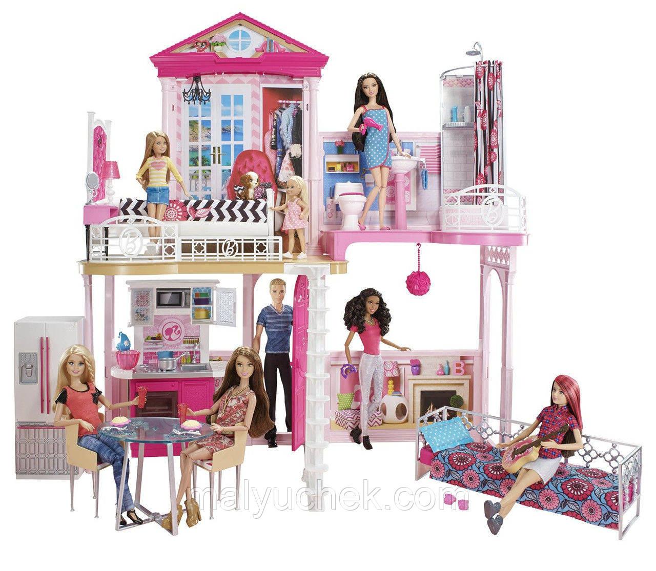 Кукольный Домик Barbie Mattel B64