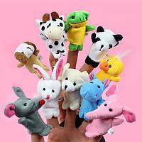 Дитячий пальчиковий ляльковий театр Звірі 10 персонажів