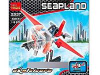 Конструктор детский Самолет 116 дет, 3337