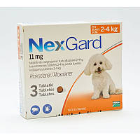Merial NexGard (Нексгард) Таблетки от блох и клещей для собак весом от 2 до 4 кг  1 табл.