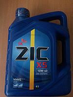 Масло моторное полусинтетическое ZIC X5 10W-40 4л. - производства Кореи