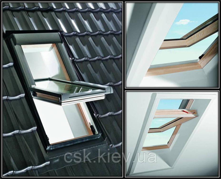 Окно Roto  R45 5/7 (из дерева)