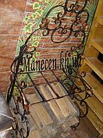 Кованная подставка для дров лодочка со спинкой