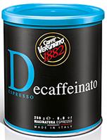 Vergnano 1882 Decafeinato (молотый кофе без кофеина ж/б)