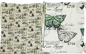 "Сумка для обуви ""Цветы, море, бабочки, Париж"" хлопок, фото 2"