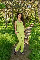 Комбинезон летний для беременных (салатовый)
