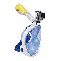 Дайвинг маска Tribord Easybreath Blue для подводного плавания (сноркелинга) c креплением для камеры GoPro