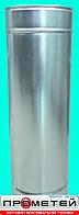 """Труба с теплоизоляцией (""""сэндвич"""") из нерж/оцинк стали 0,5 мм. (304)  130/200 0,5 м."""
