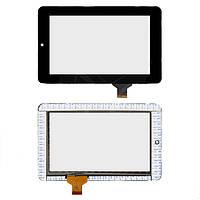 Сенсорный экран (touchscreen) для Texet TM-7024, 30 pin, шлейф 22 мм, оригинал (черный)