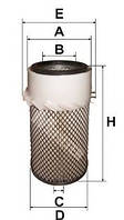 Фильтр воздушный JOHN DEERE 1000-Series, (аналог  AH19582H, AH19851, AH19852)